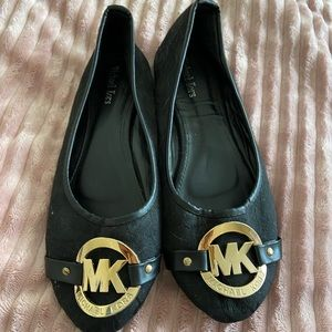 Shoes - black and gold Michael Kors flats